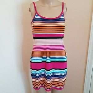 Derek Heart Multicolored Striped Mini Dress